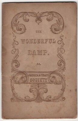 The Wonderful Lamp Antique Miniature Children's Book American Tract Society NY