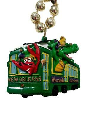 New Orleans Mardi Gras Crawfish Gator Streetcar Beads Party Favor Necklace