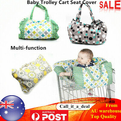 Baby Shopping Trolley Cart Seat Cover Mat Tote Cushion Protector Multi-function