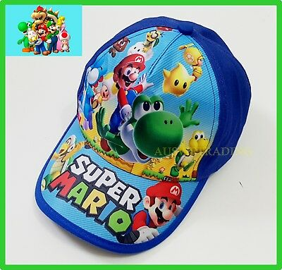 Super Mario game cartoon kids boys girls Cap / Hat Brand new cotton