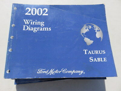 2002 Ford Taurus Sable Electrical Wiring Diagrams Factory Oem Repair Manual