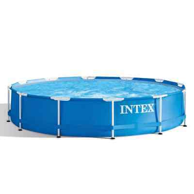 Intex Swimming Pool Metal Frame 366x76cm Outdoor Garden Summer Water Centre