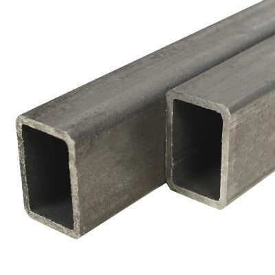 vidaXL 6x Structural Steel Tubes Rectangular Box Section 2m 40x20x2mm Bar