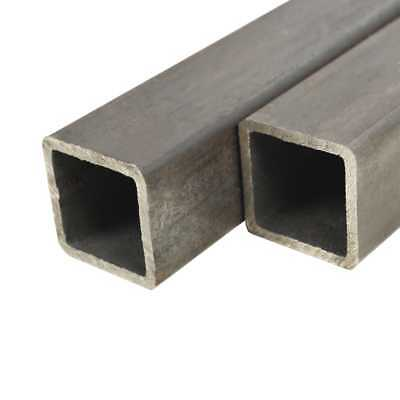 vidaXL 2x Structural Steel Tubes Square Box Section 2m 50x50x2mm Hollow Pipe