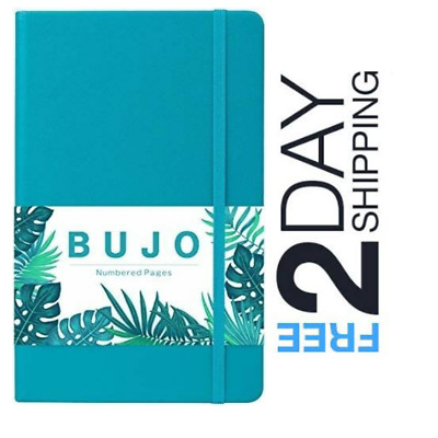 Bullet Journal Dot Grid Notebook Numbered Pages HardCover Thick Paper Pocket