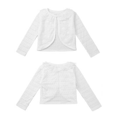 f195fc419 BABY GIRLS CARDIGAN Bolero Shrug Long Sleeve Wedding Flower Girl ...
