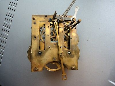 ANTIQUE German Wall Clock MOVEMENT PARTS RESTORE LIKE GUSTAV BECKER JUNGHANS HAC