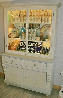 Antique Victorian Glazed Pine Dresser Painted in Shabby Chic Chalk Paint