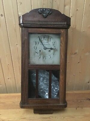 Kienzle Wall Clock Madras & Rangoon Wooden Antique
