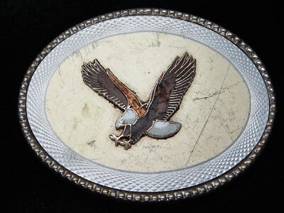 RC01115 VINTAGE 1980s *AMERICAN BALD EAGLE* COMMEMORATIVE ROCKMOUNT BELT BUCKLE