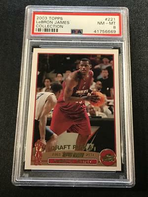 Lebron James 2003 Topps Collection 221 Rookie Card Rc Psa 8 Cavaliers Lakers