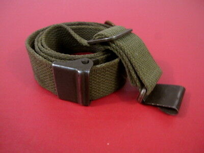 post-WWII US GI M1 Garand Canvas Rilfe Sling w/Hump Buckle - Marked: MRT #4