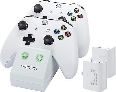 Venom Xbox One Twin Docking Station for Controllers Charge w/ 2 x Battery Packs