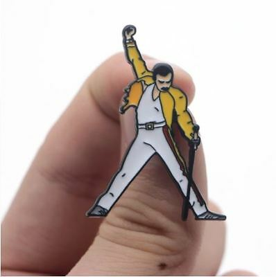 Freddie Mercury pin Brooch Queen BOHEMIAN RHAPSODY lead singer decoration badges