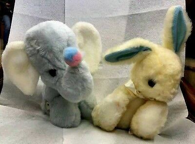 Vintage Eden Elephant Musical Wind Up Stuffed Animal Plush Toy Dumbo