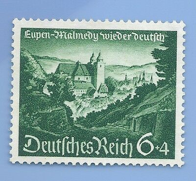 Nazi Germany 3rd Reich 1940 Malmedy 6+4 Stamp WW2 ERA