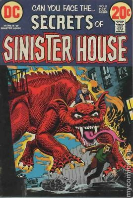 Secrets of Sinister House #8 1972 VG 4.0 Stock Image Low Grade