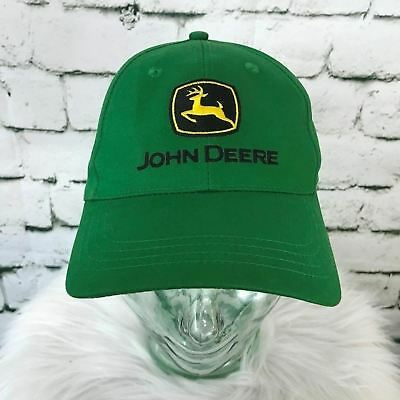 John Deere Mens One Sz Hat Green Classic Logo Adjustable Ball Cap 100%  Cotton 181d2e737a1d
