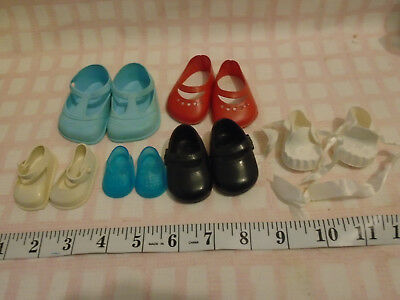 4 PAIRS VINTAGE DOLL SHOES 2 PRS CINDERELLA 0 0M fit PEDIGREE RODDY CHILTERN