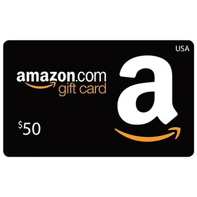 "$50 Amazon Gift Card ""Free Shipping, No Expiration & Brand New"""