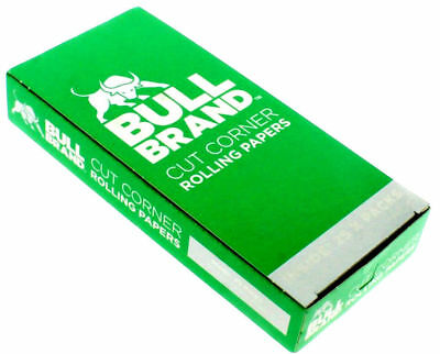 New Bull Brand Green Cut Corner Rolling Papers Tobacco Smoking Cigarette