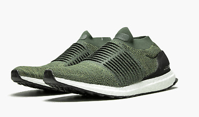 Adidas Ultra Boost Laceless Men's 10 Olive Trace Cargo Shoes CP9252 Size 7-11.5