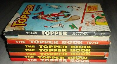 Lot Of 8 The Topper Comic Annuals , 1967 To 1984