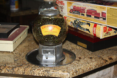 Rare Antique 5 Cent Abbey Mfg.company Gumball Vending Chlorophyll Machine