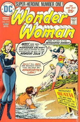 Wonder Woman (1st Series DC) #216 1975 VG Stock Image Low Grade