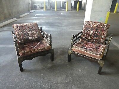 Magical Middle Eastern Lounge Chairs With Oriental Carpet Seats