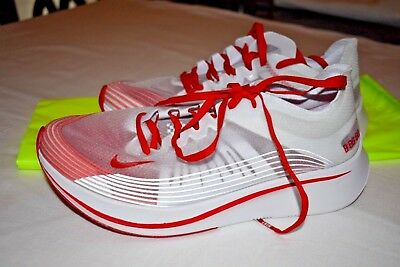 56a442d01476 NIKE ZOOM FLY Sp Tokyo Running Shoes White clear red. Sz 8.5 ...