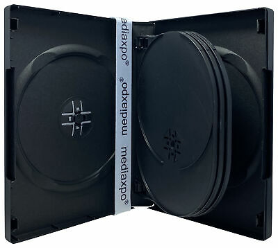 Black 7 Disc DVD Cases