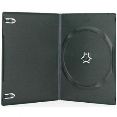 SLIM Black Single DVD Cases 7MM