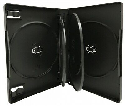 Black 5 Disc DVD Cases /w Patented M-Lock Hub