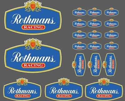 Set 20 Rothmans Racing Adesivi-MOTO-RALLY-AUTO Decalcomanie Sku2446.
