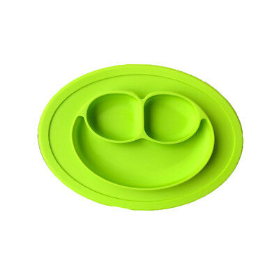Green Silicone Baby Snack Mat-Toddler Placement Mat Suction Table (50x40x41.5)cm