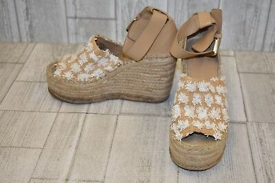 640483cb7931 MARC FISHER LTD Adalyn Espadrille Wedge Sandal - Women s Size 5.5M - Tan  DAMAGED -  40.00