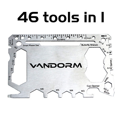 Vandorm Multi Tool Card 46 in 1 Wallet SOS Mens Gift Utility Bike Tool