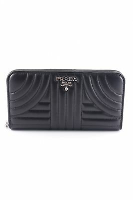 "1a8dd9c6cf716 PRADA Geldbörse ""Classic Zip Wallet Smooth Leather Black"" schwarz Damen  Tasche"