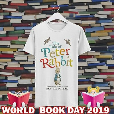 The Tales of Peter Rabbit World Book Day CMA124 Kids & Adults White Tee