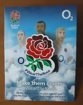 England RFU Rugby #Wear The Rose Pin Badge