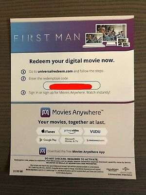 First Man (Ryan Gosling) 4K UHD Digital Code ONLY - Read Description