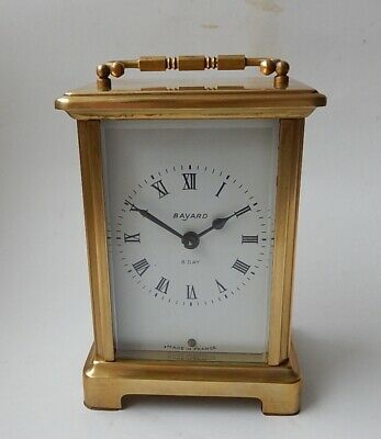 French Duverdry & Blouquel Brass Case carriage Clock Fully Working 2875