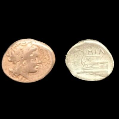 2 Greek (450 Bc-100 Ad) Rare Unresearched Hemidrachm Greek Silver Coin 300 Bc Coins & Paper Money