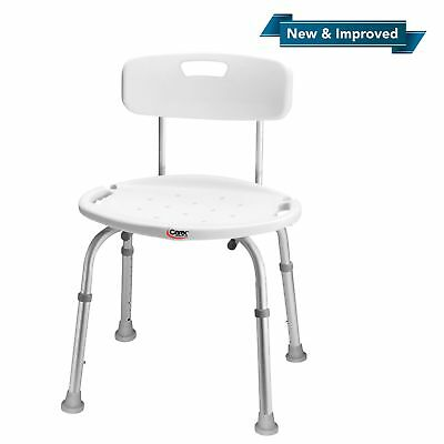 Carex Shower Chair With Back, Bath Chair, Shower Seat FREE SHIPPING