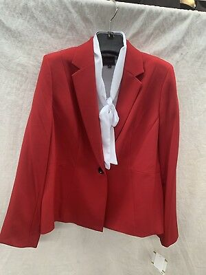 Kasper Blazer/Red/New With Tag/Size 16/Lined/Retail Not Included