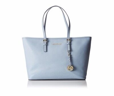 b370f8a8928aad NWT Michael Kors Jet Set Travel Saffiano Leather Pale Blue New Authentic!