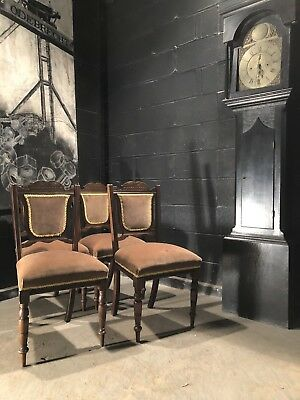 Can Deliver Set 4 Vintage Antique Edwardian Victorian Dining Chairs