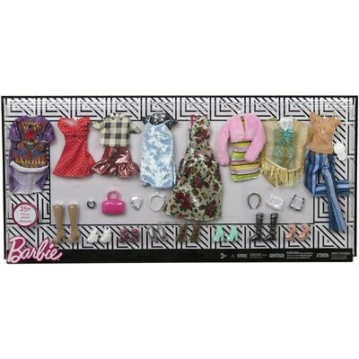 Barbie Fashions 8 Outfit Mulitpack 25 More Accessories NEW