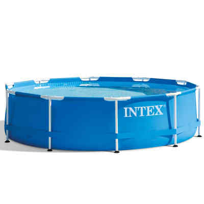 Intex Swimming Pool Metal Frame 305x76cm Outdoor Garden Summer Water Centre